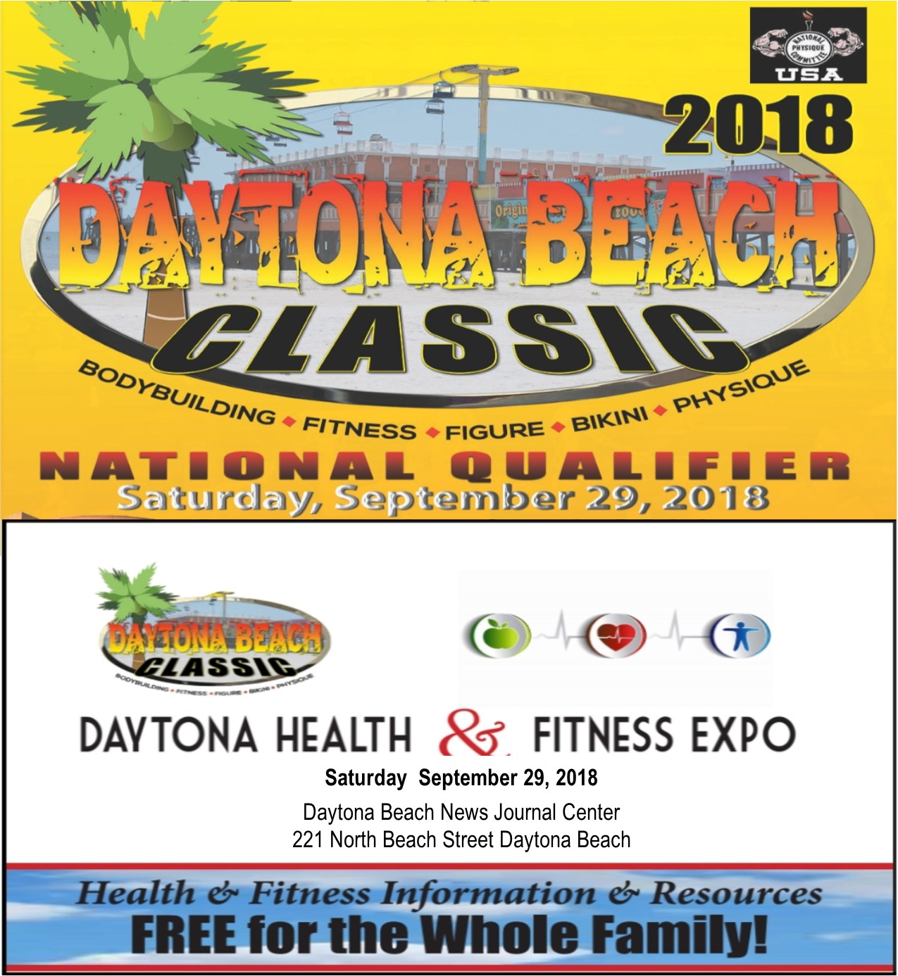 DAYTONA BEACH CLASSIC AND EXPO POSTER
